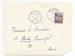 ALGERIE LETTRE DE SEDDOUK POUR LA FRANCE 1967 - Algérie (1962-...)