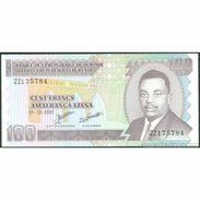 TWN - BURUNDI 37f - 100 Francs 1.10.2007 Replacement = ZZ UNC - Burundi