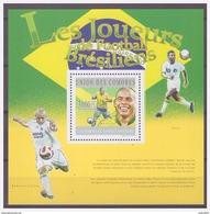 0550 Comores 2010 Voetbal Soccer Brazilian Ronaldo Pele Roberto Carlos S/S MNH - Voetbal