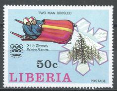 Liberia 1976. Scott #732 (MNH) Olympic Games Innsbruck, Bobsled - Liberia