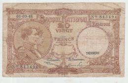 Belgium 20 Francs (01.09.1948) Pick 116 VG+ - [ 2] 1831-... : Belgian Kingdom
