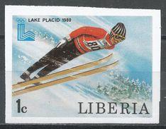 Liberia 1980. Scott #867 (MNH) Olympic Games Lake Placid, Ski Jump - Liberia