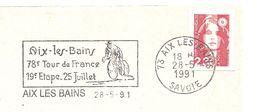 1991 78 ème Tour De France  étape D'Aix Les Bains - Ciclismo
