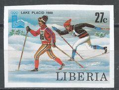 Liberia 1980. Scott #870 (MNH) Olympic Games Lake Placid, Cross-country Skiing - Liberia