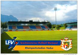 AK Rheinpark-Stadion Postkarte FC Vaduz Liechtenstein Fußball Football Stadium Postcard LFV Stade Stadio Calcio Estadio - Fussball
