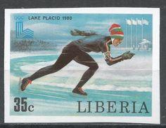 Liberia 1980. Scott #871 (MNH) Olympic Games Lake Placid, Speed Skating - Liberia