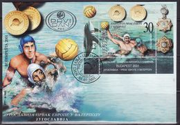YUGOSLAVIA 2001 - Water Polo European Champion,FDC - Water-Polo
