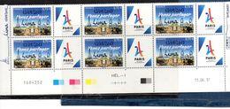 FRANCE - JO. Surcharge Lima 13/09/2017 - Bloc De 6 Bas De Feuille Coin Daté - France