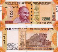 INDIA       200 Rupees       P-New       2017       UNC  [ Sign. Patel - No Letter ] - India