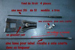 Fond De Tiroir   2 Lames Baionnette +gousset  + Croisiere - Armes Blanches
