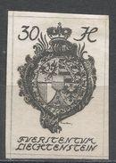 Liechtenstein 1920, Scott #23 (MH) Coat Of Arms, Armoirie - Liechtenstein
