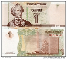 TRANSNISTRIA       1 Rubl'       P-42b       2007 / 2012      UNC - Banknoten