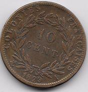 Colonies Françaises - Charles X - 10 Centimes 1829 A - Colonies
