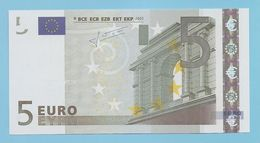 5 EURO L030D2 RARE CHARGE 80  UNC - EURO