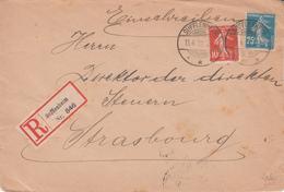 Env Reco Affr Y&T 135 + 140 Obl SUFFLENHEIM / * * *  Du 15.4.19 Adressée à Strasbourg - Marcophilie (Lettres)