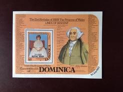 Dominica 1982 Royal Baby Overprint Minisheet MNH - Dominica (1978-...)