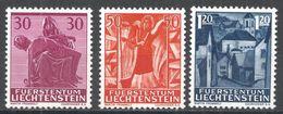 Liechtenstein 1962, Scott #372-4 (MNH) Pietà, Angel, Harp, Mauren - Liechtenstein