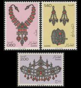 Algeria 1980 Art Jewelry Necklace Earring Bracelet Crown Gems Minerals Stamps MNH SC 652-654 Michel 763-765 - Minerals