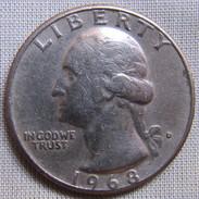 UNITED STATES 1968D - WASHINGTON QUARTER - Federal Issues