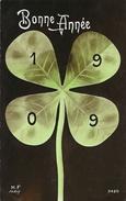 Bonne Année 1909 - Trèfle à 4 Feuilles - Carte M.F. Paris N° 2420 - Año Nuevo