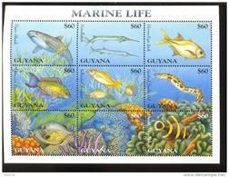 GUYANA  2977   9528 MINT NEVER HINGED MINI SHEET OF FISH-MARINE LIFE  #  M-418-2   ( - Marine Life