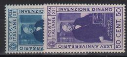 1934 Invenzione Della Dinamo Serie Cpl MNH - 1900-44 Victor Emmanuel III