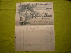Belle Facture Illustrée 1905 Fabrique De Lampes Raufast & Laurent à Toulouse - Petits Métiers