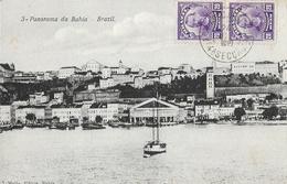 Panorama Da Bahia (Salvador) - Brazil - Ed. J. Mello - Carte Dos Simple - Salvador De Bahia