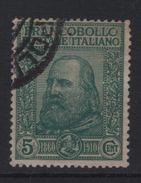 1910 Garibaldi 5 C. Verde US - 1900-44 Vittorio Emanuele III