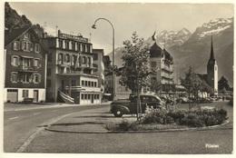 FLÜELEN Hotel Hirschen Abendruh Oldtimer Auto - UR Uri