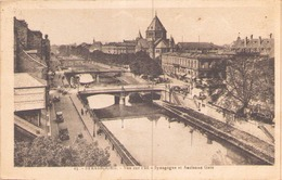 "Strasbourg Vue Sur L'Ill Synagogue Et Ancienne Gare ( Au Dos Tampon "" Inconnu à L'adresse "" ) - Strasbourg"