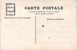 Belle Carte Publicitaire MOKA LEROUX - Au Recto La Mer Pécheuses De Crevettes Dessin De BESNOU - - Publicité