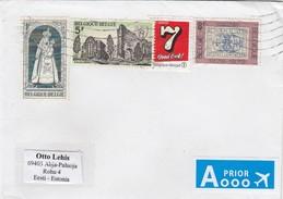 GOOD BELGIUM Postal Cover To ESTONIA 2017 - Good Stamped: Stamp On Stamp ; Soleilmont - Belgium