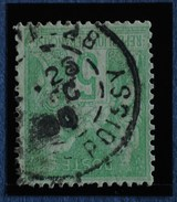 Sage N°102.Type IIl Ob.(CAD) PARIS Rue De Poissy 18 Oct 1900.( Bur 28 ) - 1898-1900 Sage (Type III)