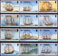 ST HELENA 1998 SG #766-77 Used Compl.set Maritime Heritage (35p Has Faulted Corner) - Saint Helena Island