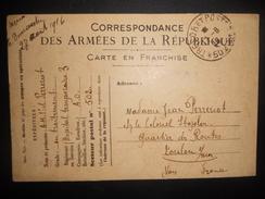 France Guerre , Tresor Et Postes 502 Carte De 1916 - Marcophilie (Lettres)