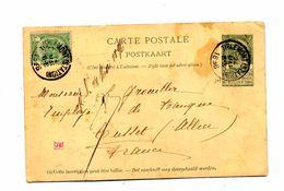 Carte Postale 5 + Timbre Cachet Tilemont - Postwaardestukken
