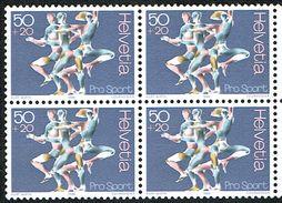 ** BLOC DE 4 NEUF 1986 C/.S.B.K. Nr:W65. Y&TELLIER Nr:1243. MICHEL Nr:1313. ** - Suisse