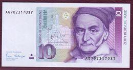 ALLEMAGNE - RFA - 10 DEUTCSCHE MARK Carl Friedrich Gauss - 02/01/1980 - Pick.38a - [ 7] 1949-… : RFA - Rep. Fed. Tedesca