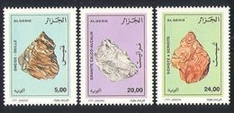 Algeria 1999 - One Set Of 3 Minerals Mineral Resources Stone Stones Nature Rock Mining Stamps MNH Scott#1154-1156 - Geology