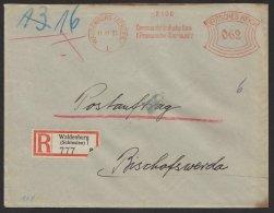 """""""Postauftrag"""", R-Brief """"Communal- Bank"""", Waldenburg/ Schlesien, 1937, Seltener Tarif Zu 62 Pfg. - Briefe U. Dokumente"""