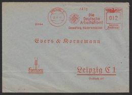 """""""Breslau"""", Dt. Arbeitsfront, Gauwaltung Niederschlesien, 1941, Vorgedruckter Umschlag - Briefe U. Dokumente"""