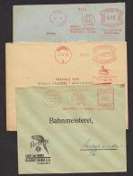 """""""Tiermotiv"""", 3 Belege Aus 1933/35, Firmenbelege Mit Versch. Motiven, Sehr Dekorativ - Briefe U. Dokumente"""