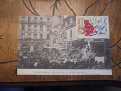 Chalon Sur Saone  Carnaval 1912 Char Des Reines  Vignette Carnaval  D - Chalon Sur Saone