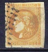 """FR YT 43A """" Cérès 10c. Bistre """" Oblitéré - 1870 Bordeaux Printing"""