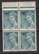FRANCE 1944 - BLOC DE 4 TP Y.T. N° 660 - NEUFS** /K294 - France