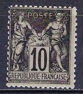 "FR YT 103 "" Sage 10c. Noir S. Lilas "" Neuf* - 1898-1900 Sage (Type III)"