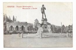 FIRENZE PIAZZALE MICHELANGELO E MONUM. A DAVIDE ' NV FP - Firenze