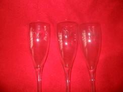 Lot 3 Coupes Publicitaires Champagne SADI MALO - Glasses