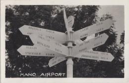 Afrique - Nigeria - Kano Airport - Aéroport Kano - Direction Distance Villes - Philatélie Postmarked 1955 - Nigeria